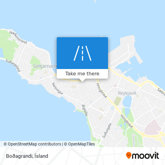 Boðagrandi map
