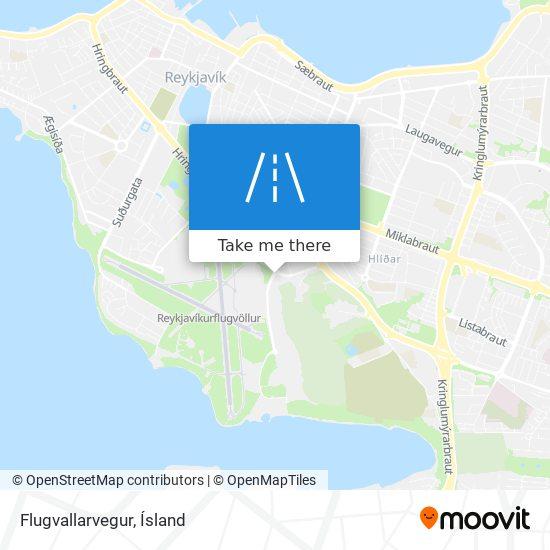Flugvallarvegur map