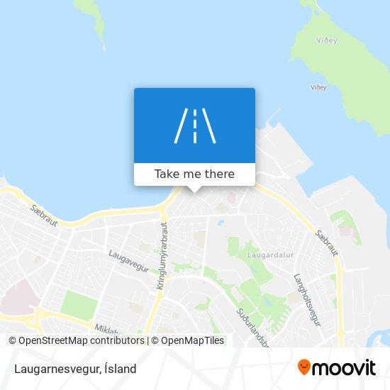 Laugarnesvegur map