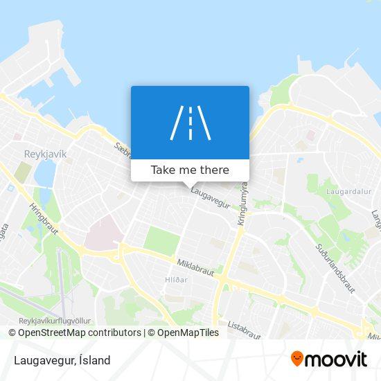 Laugavegur map