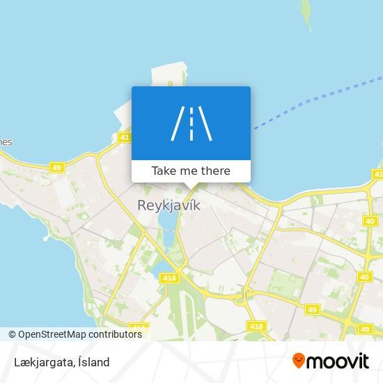 Lækjargata map