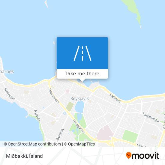 Miðbakki map