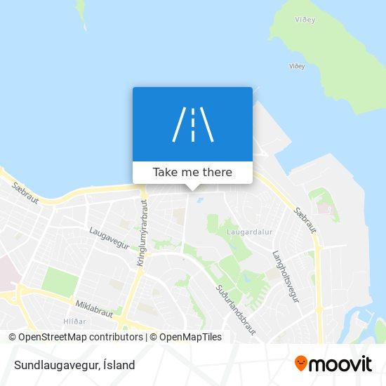 Sundlaugavegur map