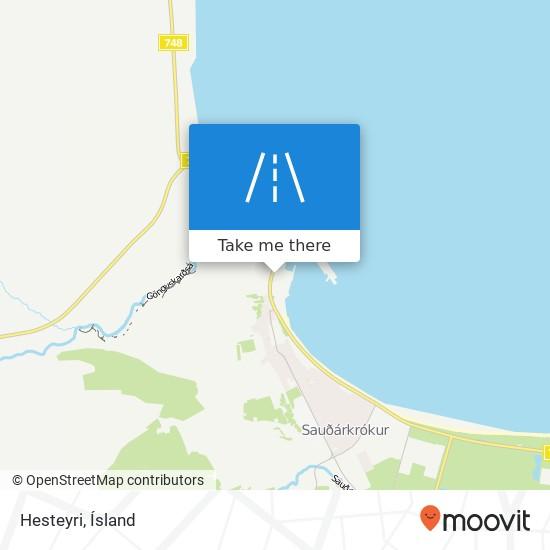 Hesteyri map