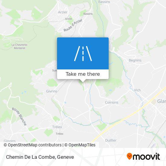 Chemin De La Combe map