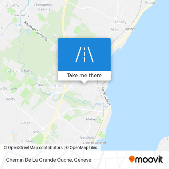 Chemin De La Grande Ouche map