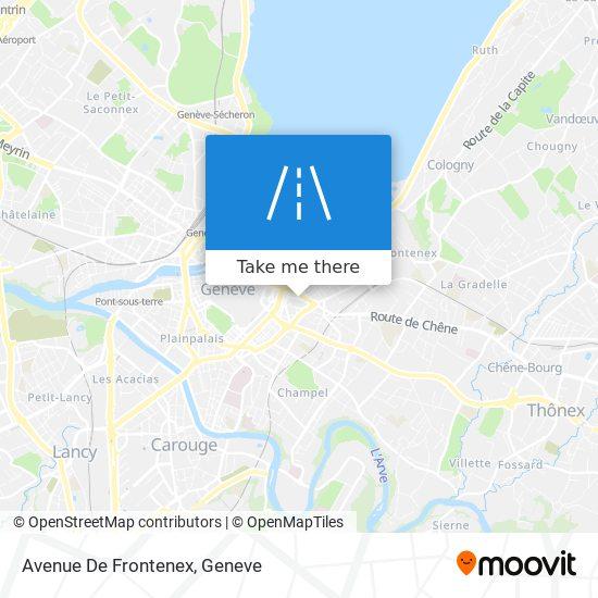 Avenue De Frontenex map