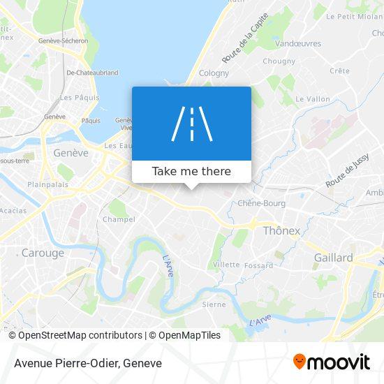 Avenue Pierre-Odier map
