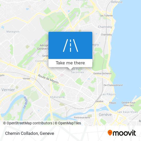 Chemin Colladon map