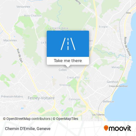 Chemin D'Emilie map
