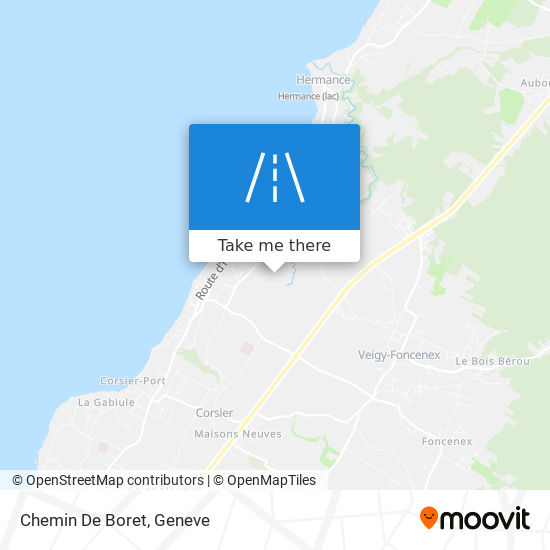 Chemin De Boret map