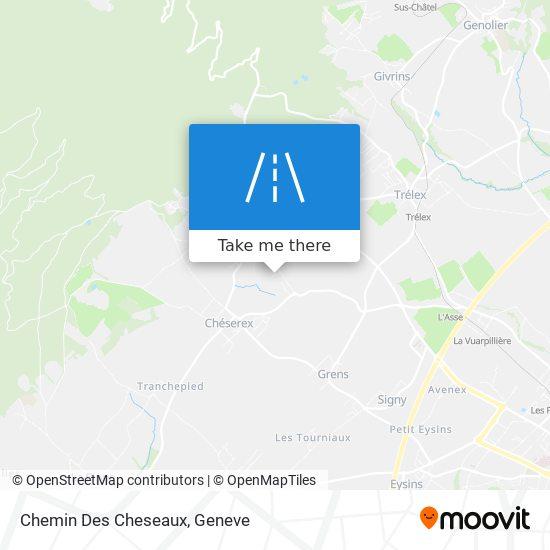 Chemin Des Cheseaux map