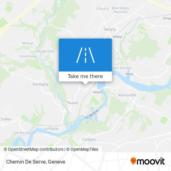Chemin De Serve map