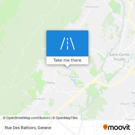 Rue Des Battoirs map