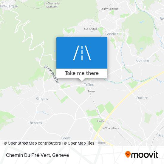 Chemin Du Pré-Vert map