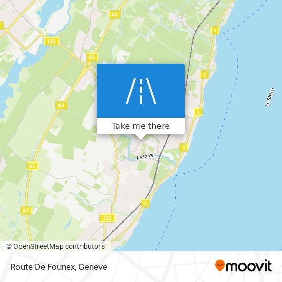 Route De Founex map