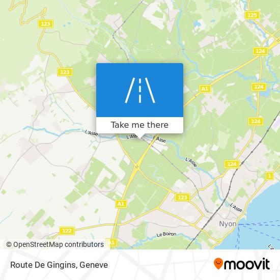 Route De Gingins map