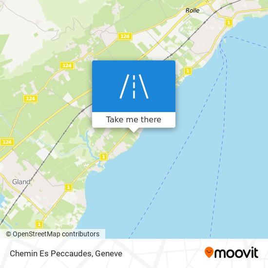 Chemin Es Peccaudes map