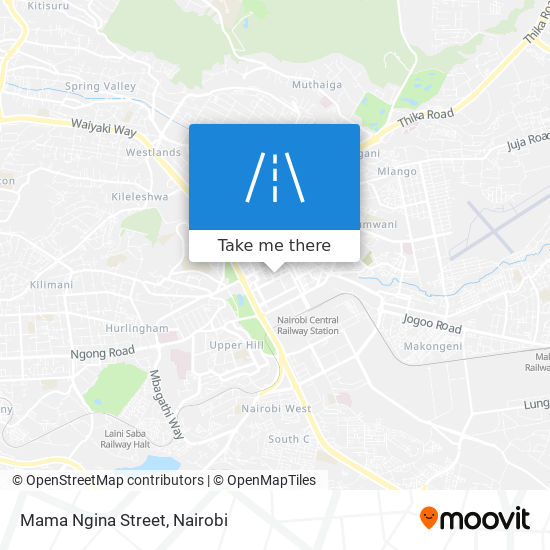 Mama Ngina Street map