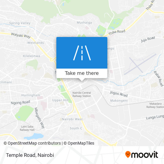 Temple Road map