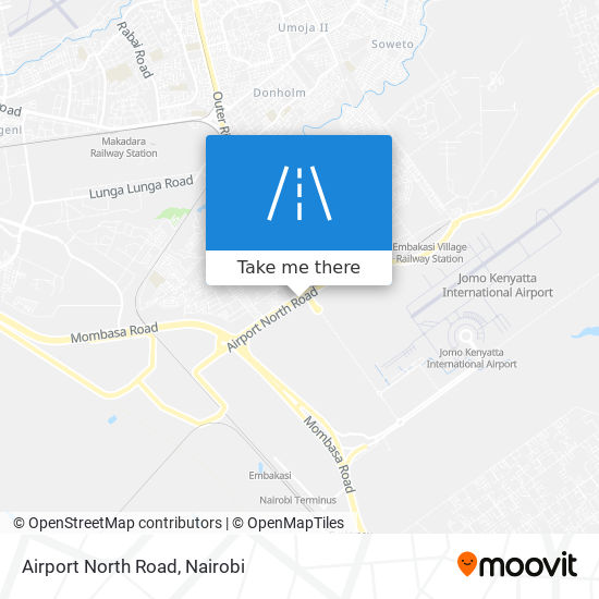 Airport North Road map