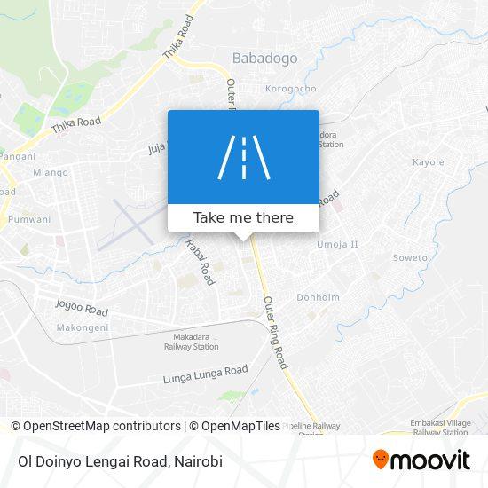 Ol Doinyo Lengai Road map