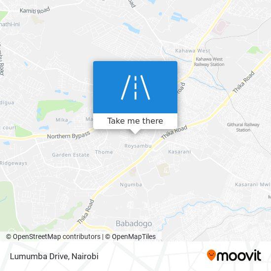 Lumumba Drive map