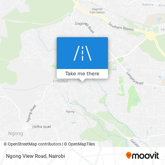Ngong View Road map