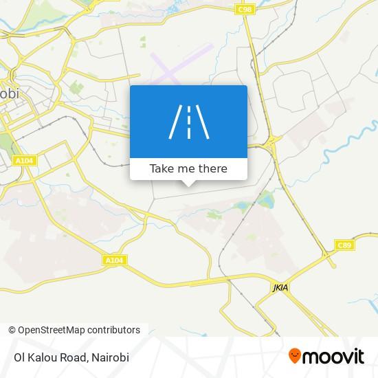 Ol Kalou Road map