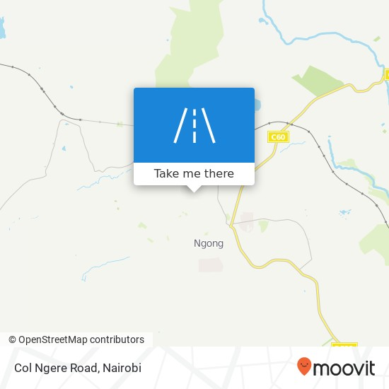 Col Ngere Road map