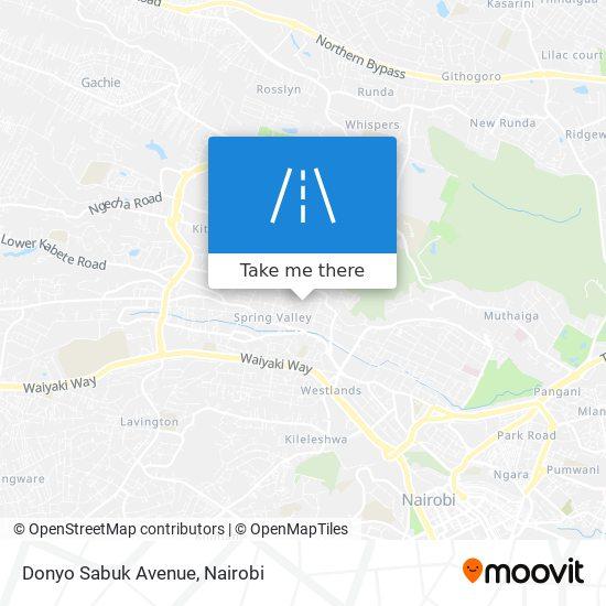 Donyo Sabuk Avenue map
