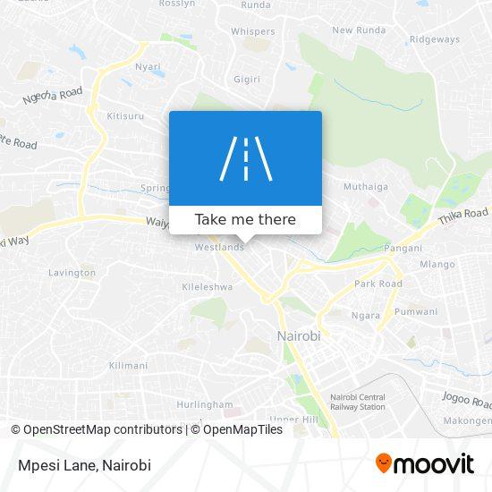 Mpesi Lane map