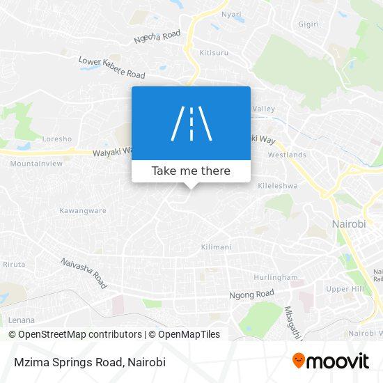 Mzima Springs Road map