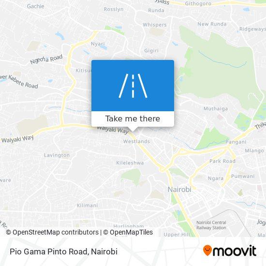 Pio Gama Pinto Road map