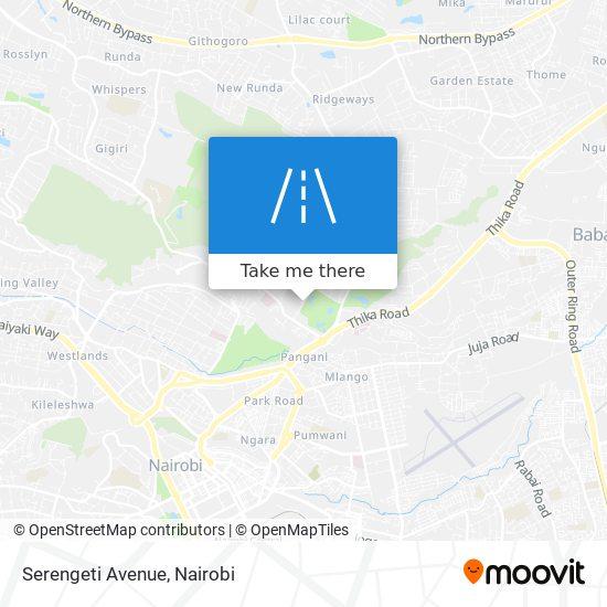 Serengeti Avenue map