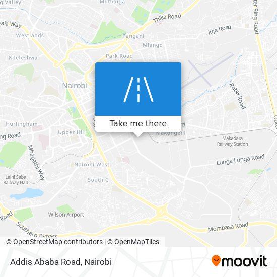 Addis Ababa Road map