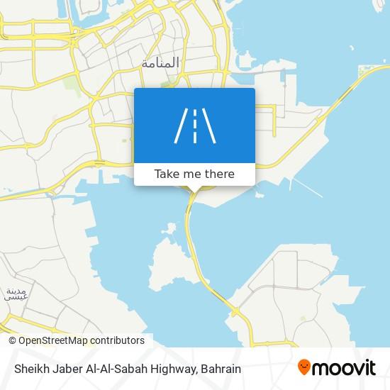 Sheikh Jaber Al-Al-Sabah Highway map