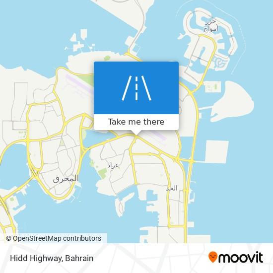 Hidd Highway map