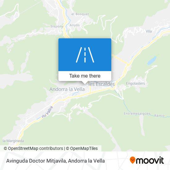 Avinguda Doctor Mitjavila map