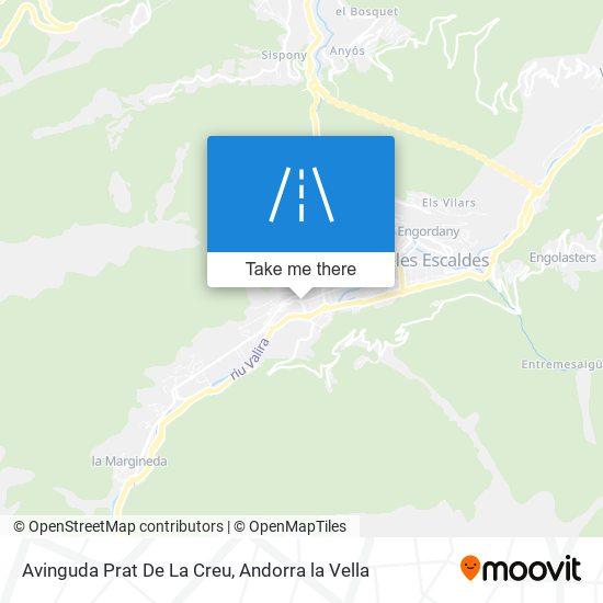 Avinguda Prat De La Creu map