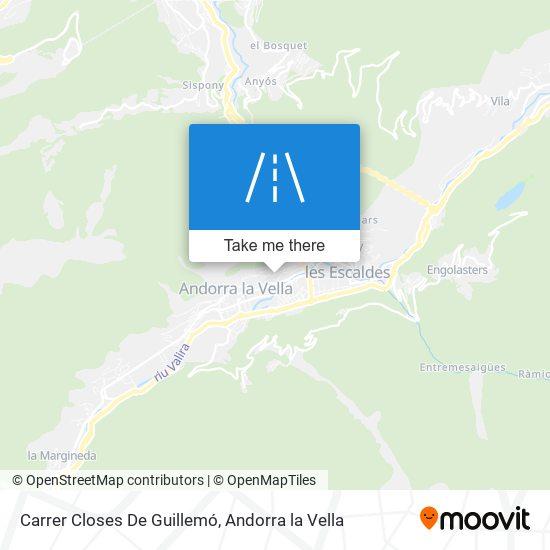 Carrer Closes De Guillemó map