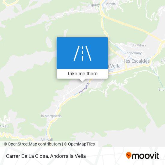 Carrer De La Closa map