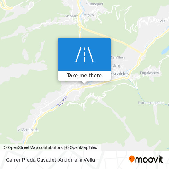 Carrer Prada Casadet map