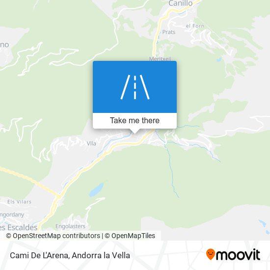 Cami De L'Arena map