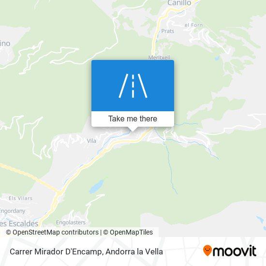 Carrer Mirador D'Encamp map