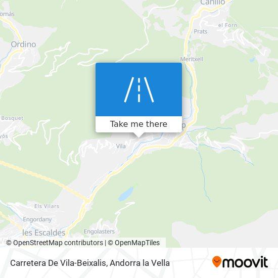 Carretera De Vila-Beixalis map