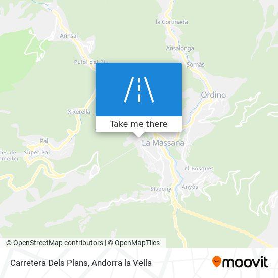 Carretera Dels Plans map