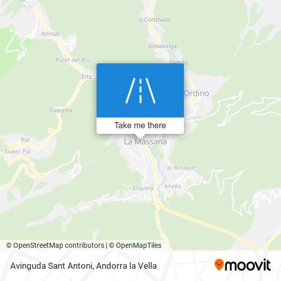 Avinguda Sant Antoni map