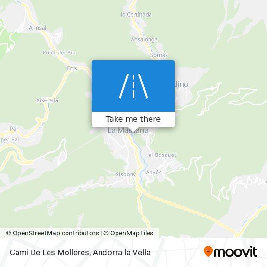 Cami De Les Molleres map