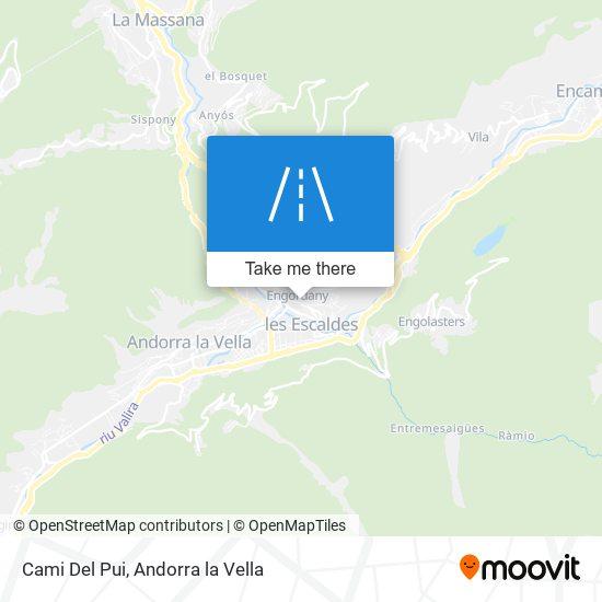 Cami Del Pui map